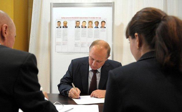 Путин после голосования навыборах депутатов Государственной думы принял решение поехать наработу
