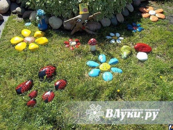 Как украшать огород своими руками фото