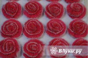 Цветочки из натурального меха, более 30 видов окраса. Заказ от 300…