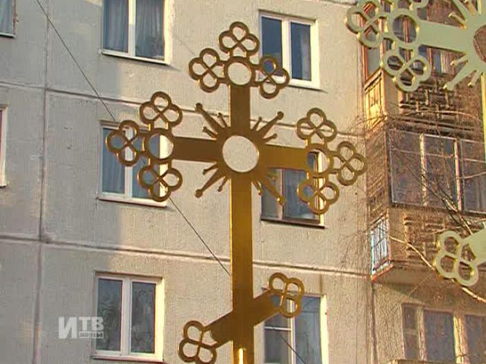 Импульс\u002DТВ: Воздвижение крестов нового храма