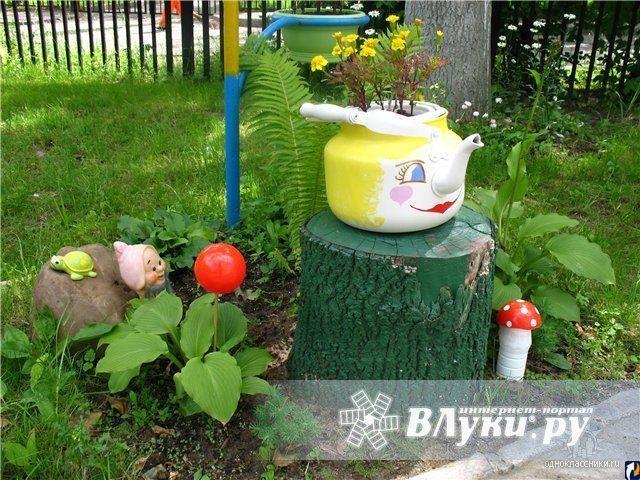 Идеи для сада своими руками фото из ненужных вещей