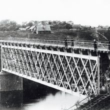 Железнодорожный мост через реку Ловать