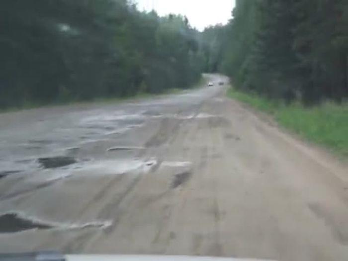 Дорога от Урицкого до Поречья в Псковской области