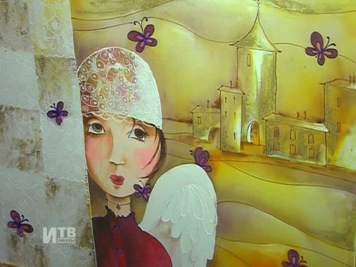 Импульс\u002DТВ: Выставка И.Алгуновой в художественном салоне