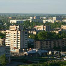 Вид на город с аэростата