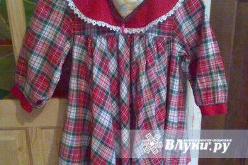 платье на девочку 2-3 года, б/у, 50 руб