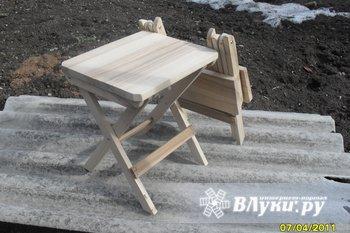 Складной стул, компактный. материал ясень, покрытие лак, изделие ручной работы. цена 800 р.