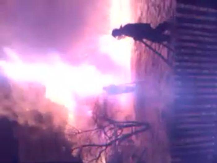 Пожар хозпостройки проезд Сопецкий