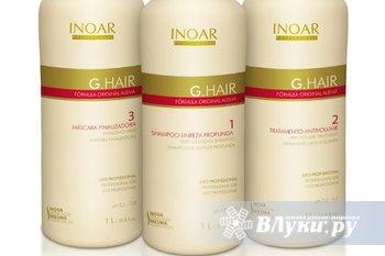 Кератиновое выпрямление волос на дому. составом иноар