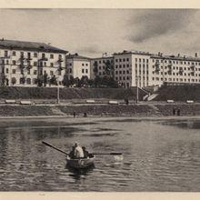 Вид с реки Ловать. 1966 год.