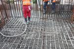 Компания «Ударник» поставила первые 1000 кубометров бетона на строительную площадку путепровода