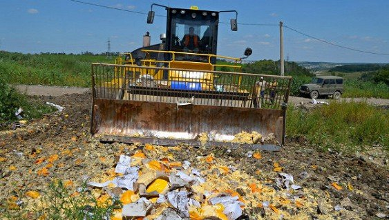 РФ будет уничтожать санкционную еду до 2018г.