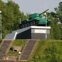 Танк «Т\u002D34», памятник всем танкистам, освобождавшим Великие Луки