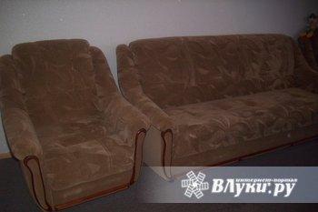 Продам диван и два кресла. Цвет бежевый. Мало б/у. Цена 13 000р.