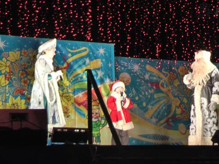 ВЛуки.ру: Праздник новогодней ёлки и салют