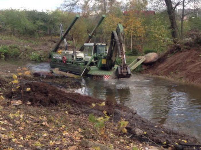 Расчистка реки Лазавица