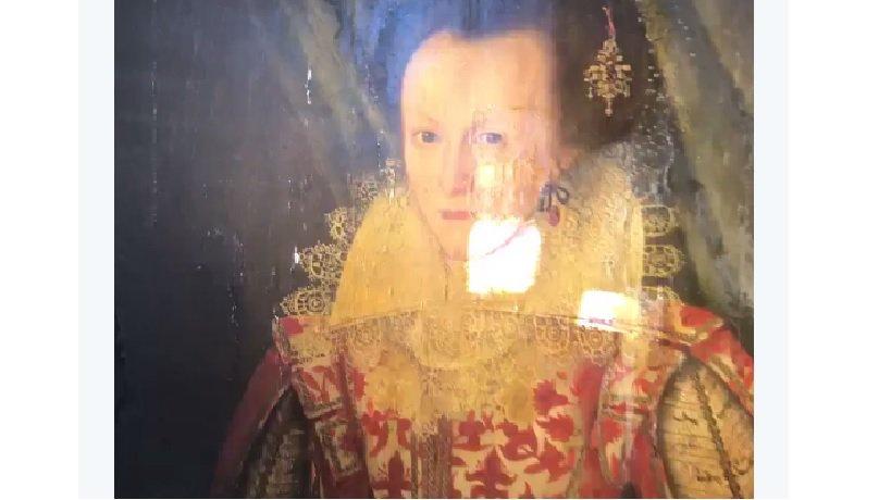 Удаление 200-летнего слоя лака скартины 17 века