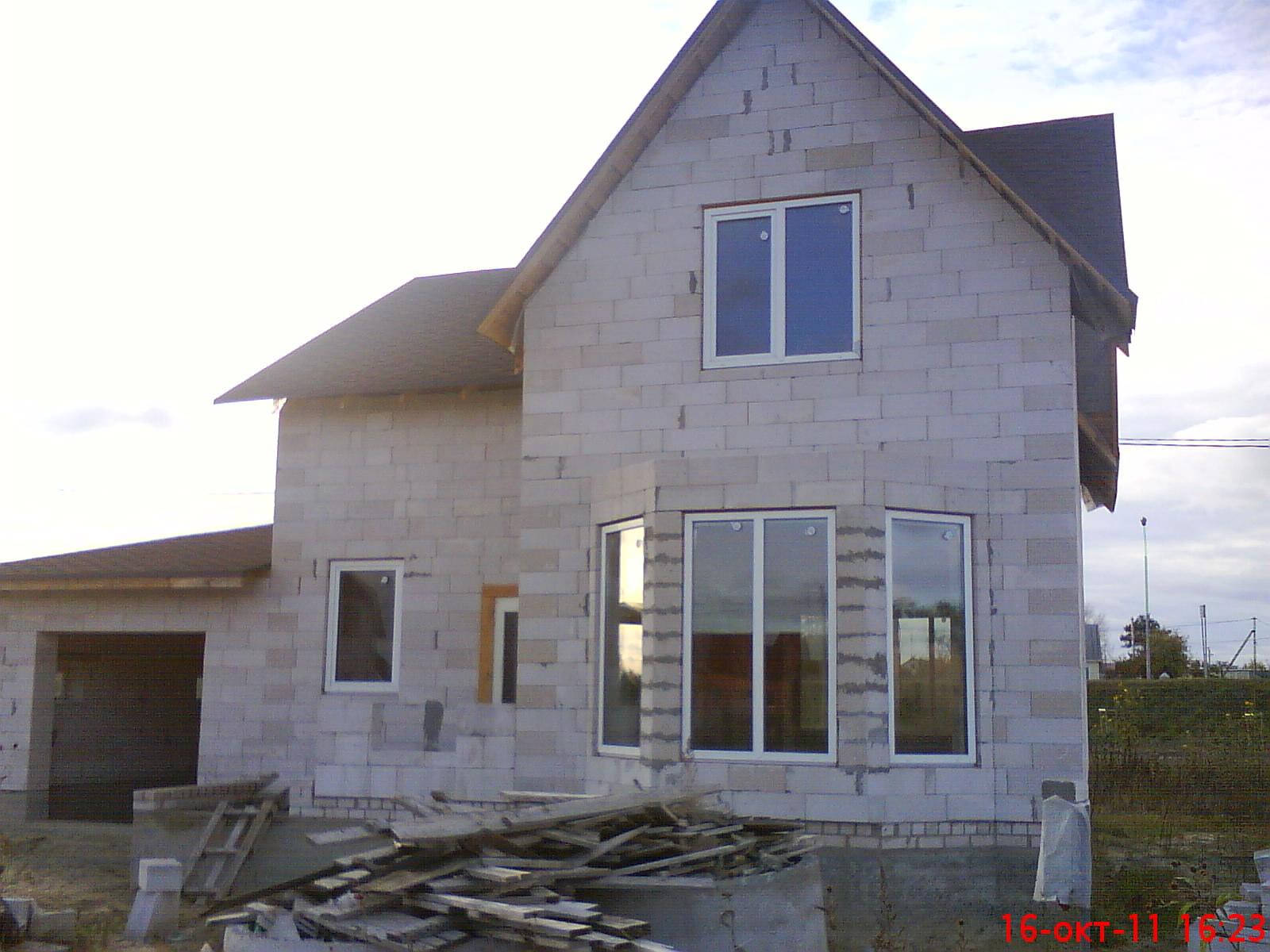 Как построить дом из пеноблоков недорого своими руками