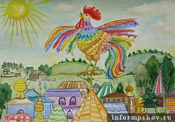 Сказка о золотом петушке рисунки детей